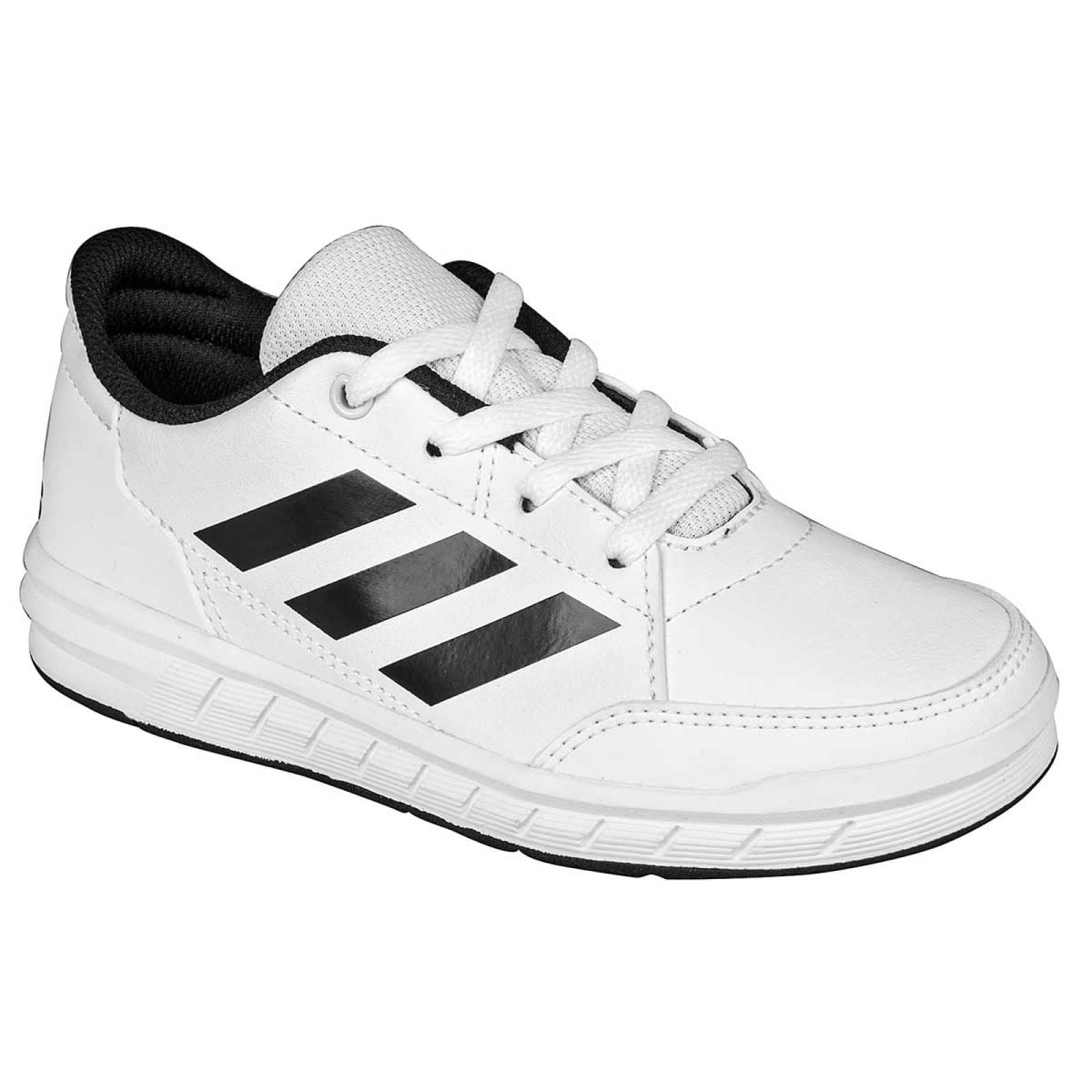 Adidas Tenis Joven Blanco negro altasport k