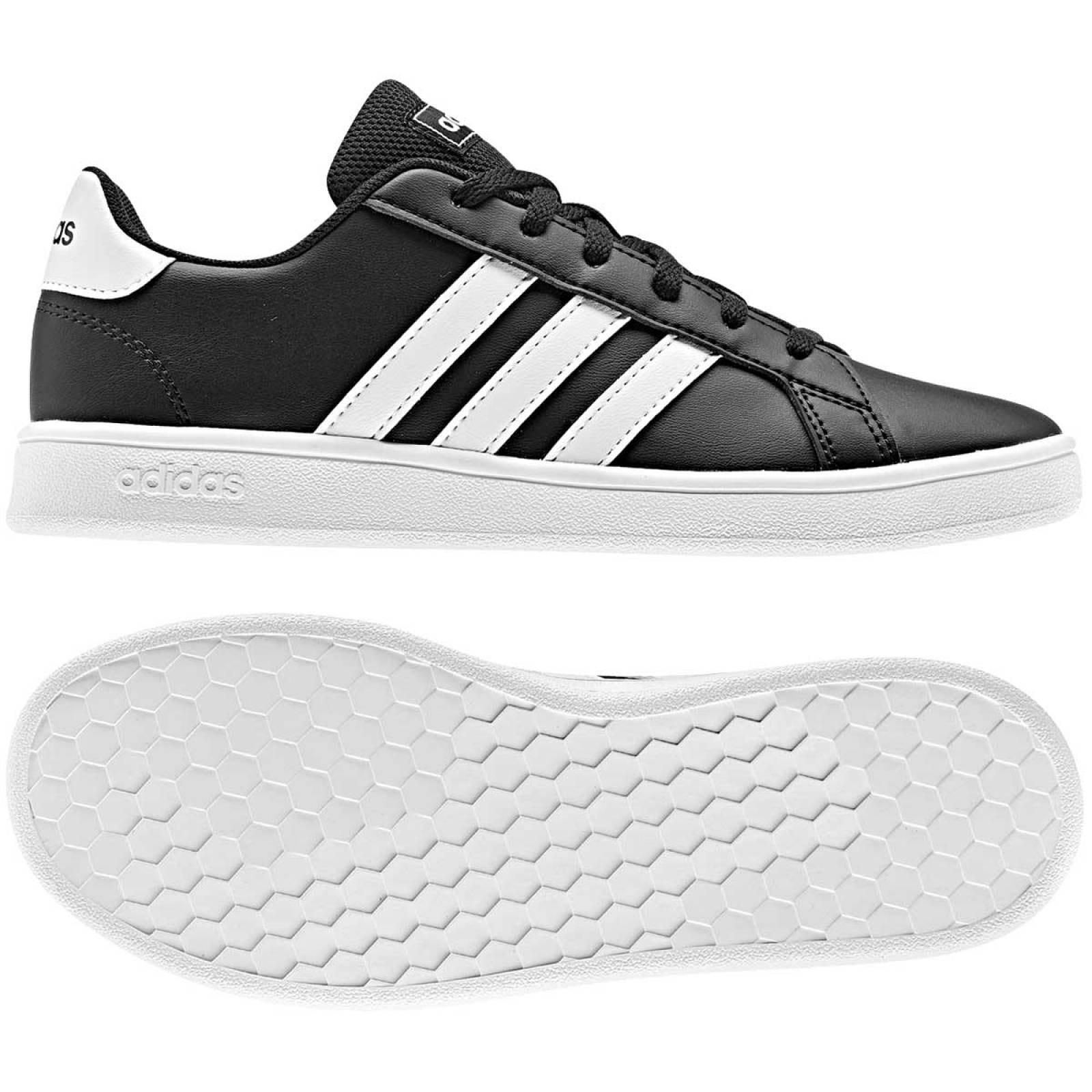 Adidas Tenis Joven Negro blanco