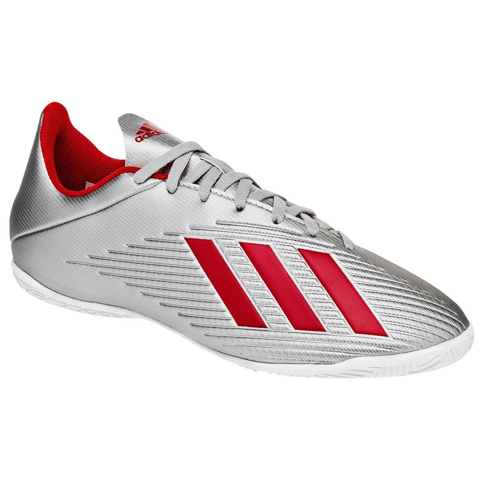 Adidas Tenis Hombre Plata rojo