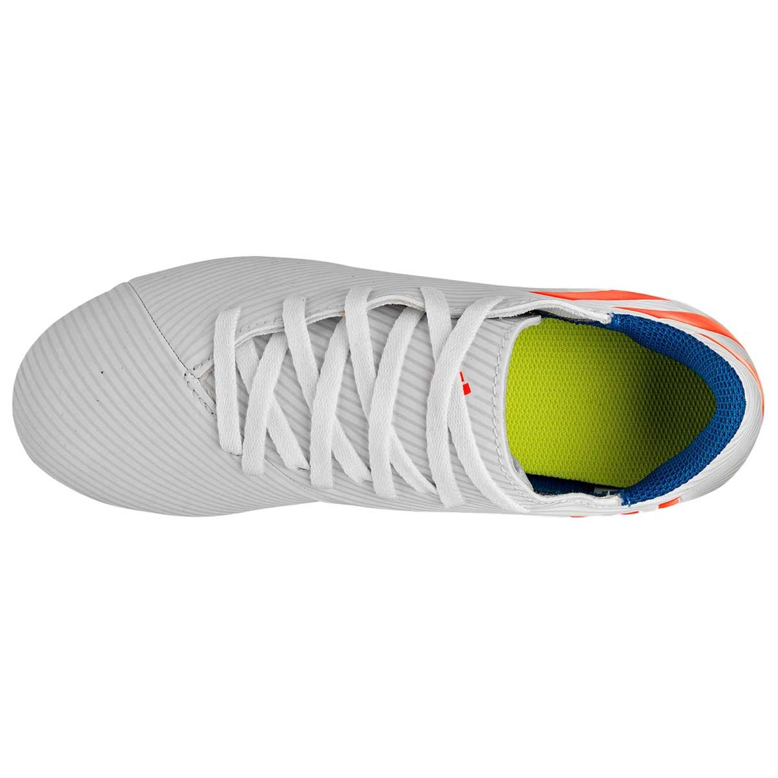 Adidas Tenis Joven Blanco naranja