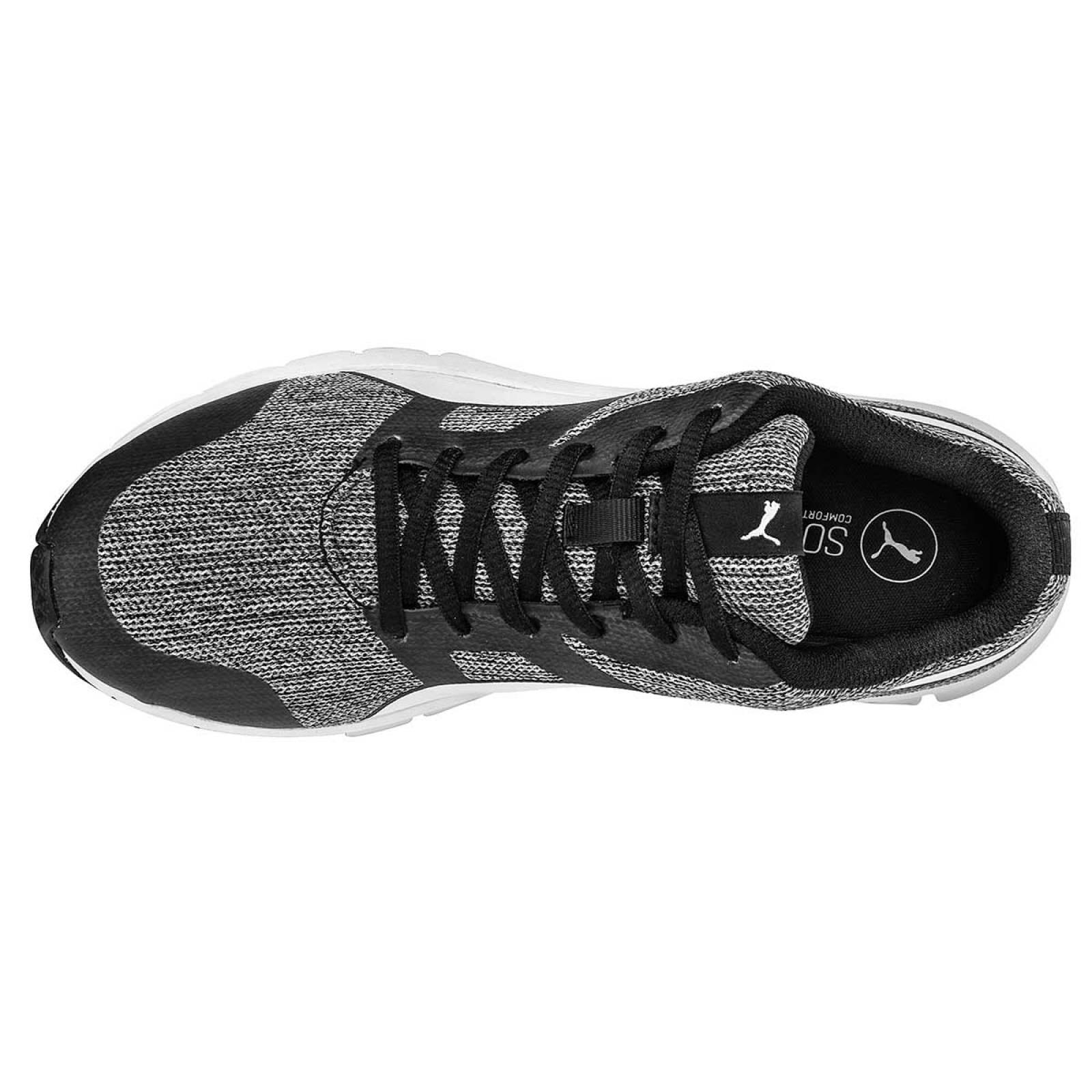 Puma Tenis Joven Negro gris flexracer multiknit jr
