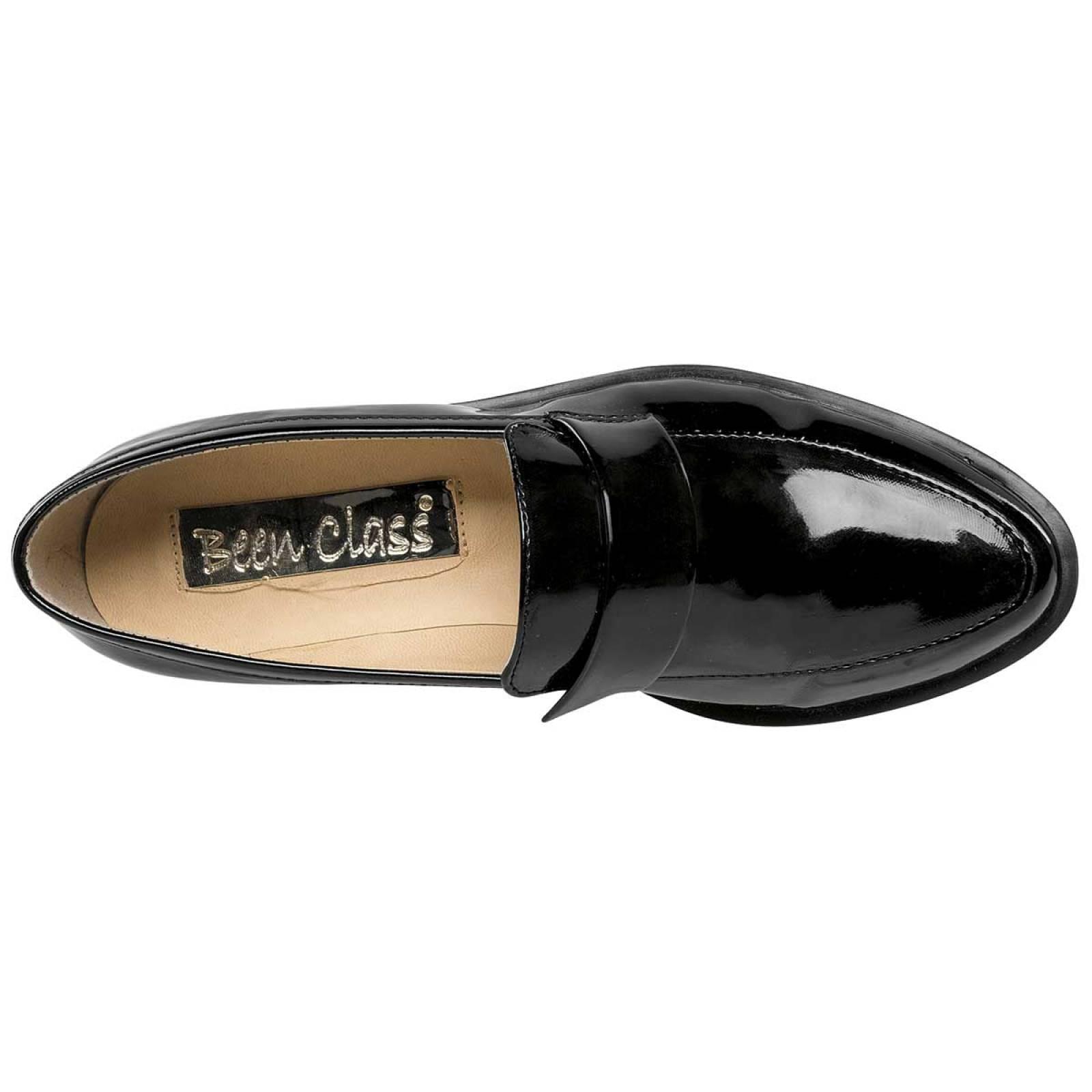 Been class Zapato Mujer Negro charol