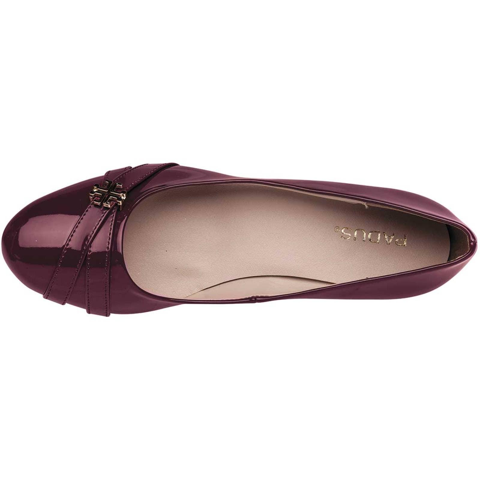 Padus Zapato Mujer Vino charol