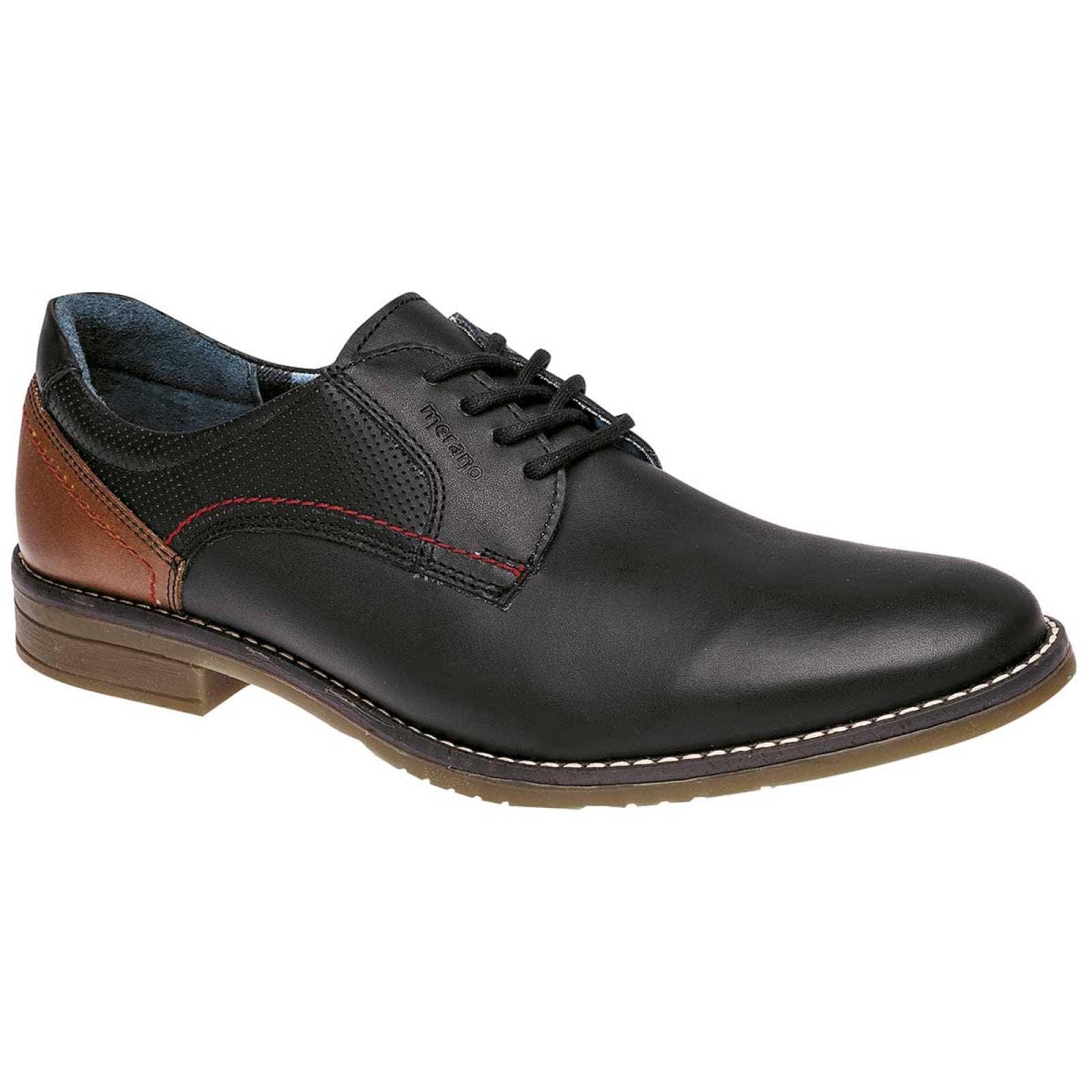 Merano Zapato Hombre Negro cafe