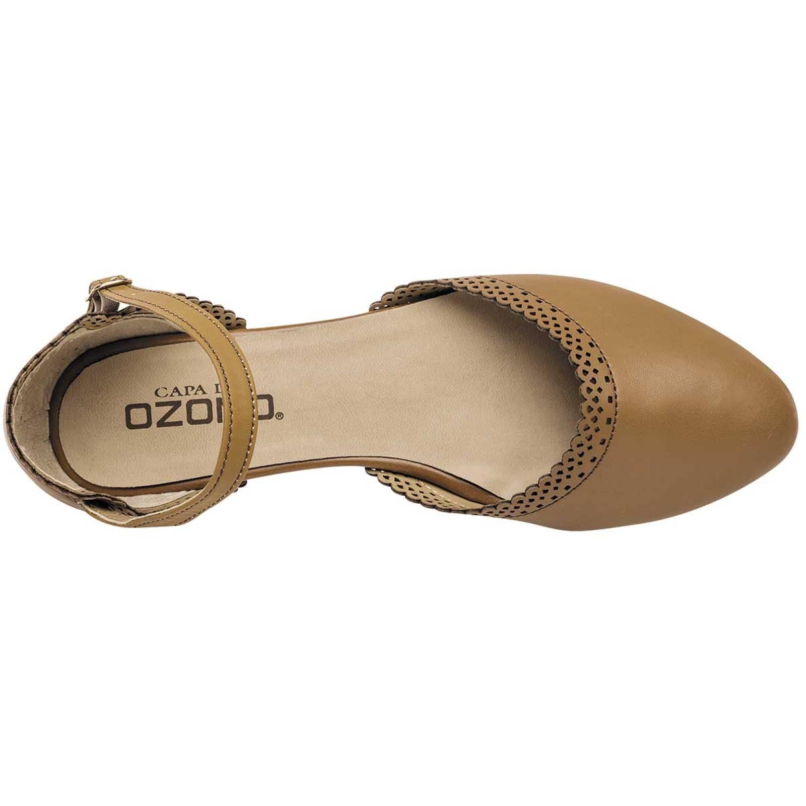 Capa de ozono Zapato Mujer Camel
