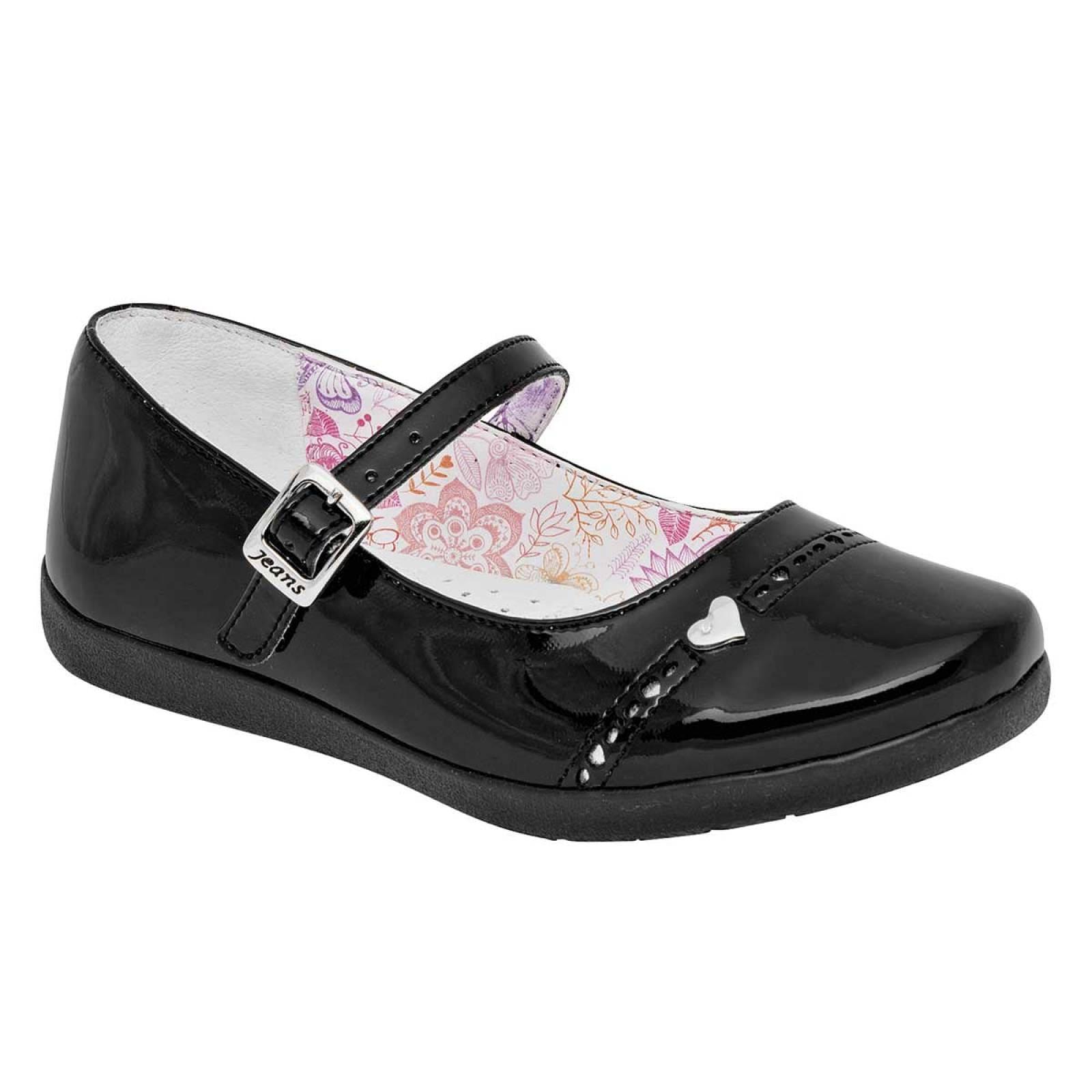 Jeans shoes Zapato Niña Negro charol