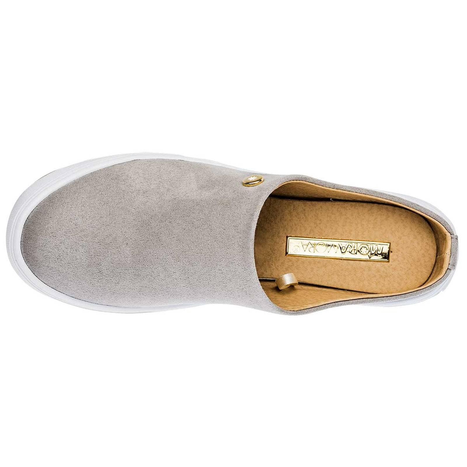 Moramora diexca Zapato Mujer Gris
