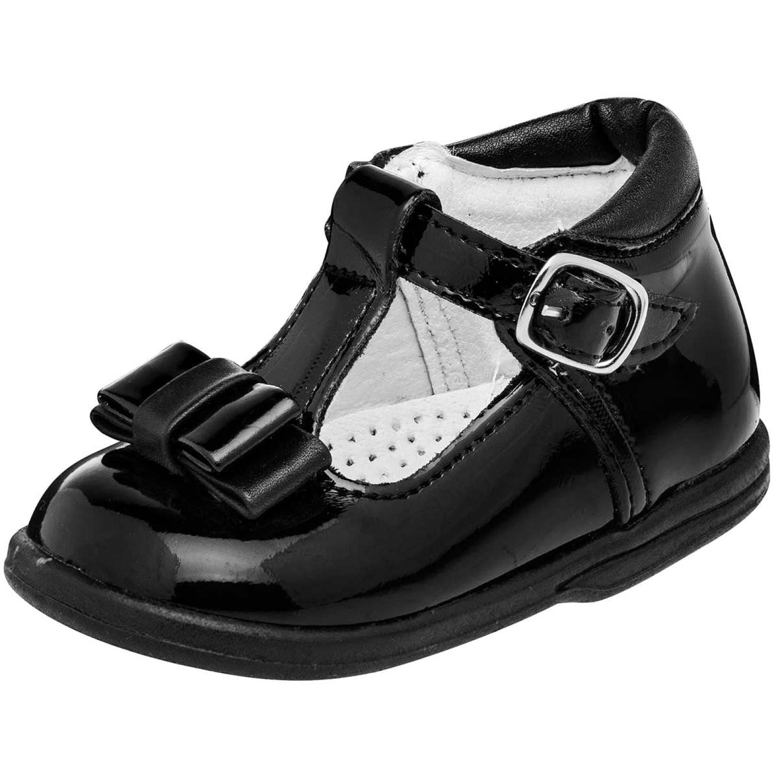 Acertijo Zapato Niña Negro charol