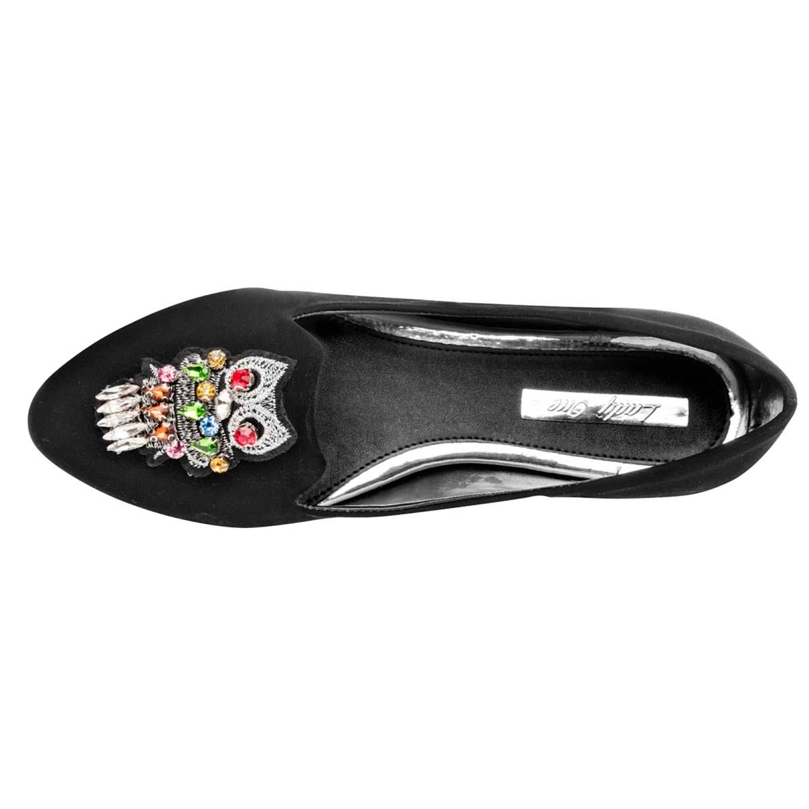 Lady one Zapato Mujer Negro plata