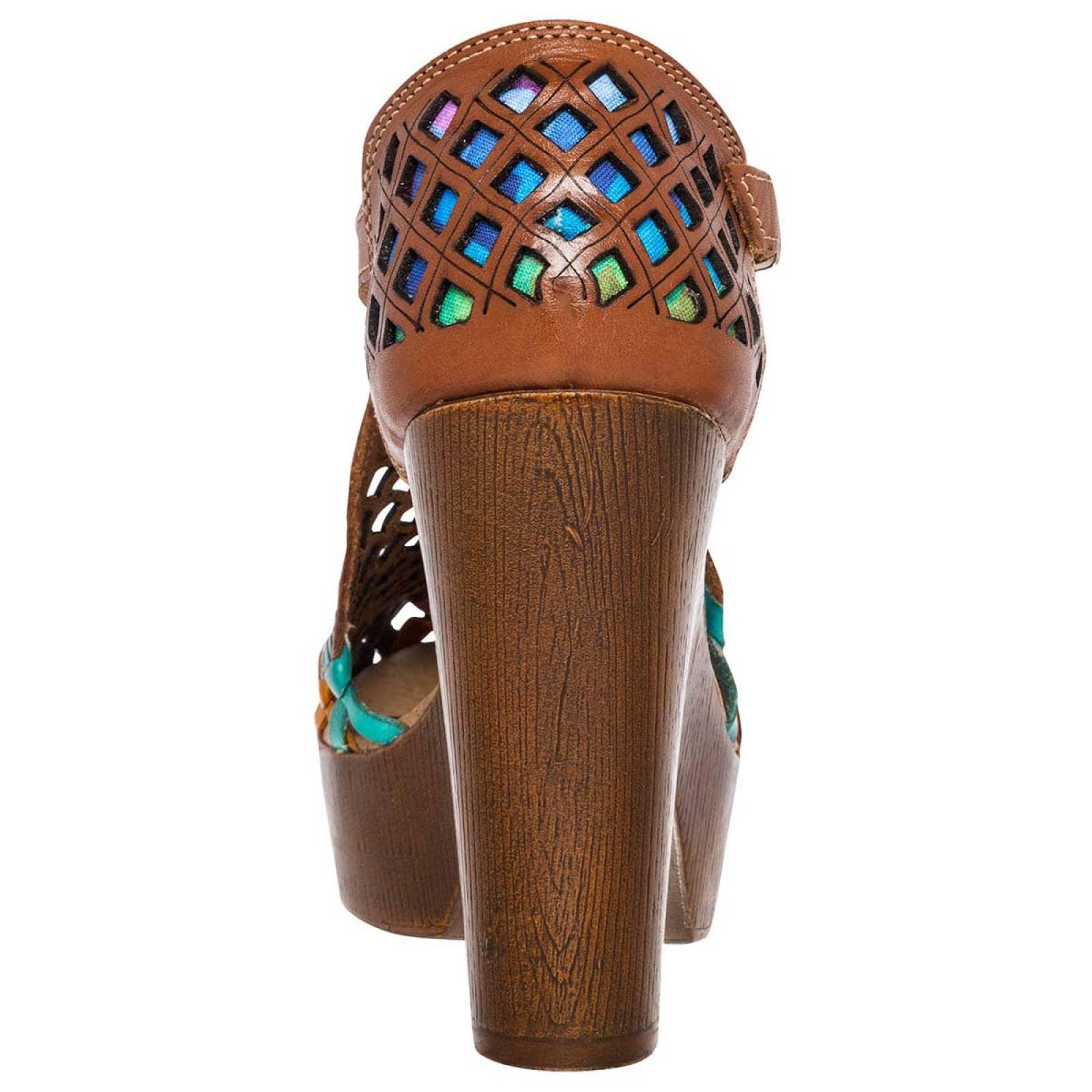 Abigail Zapato Mujer Camel multicolor