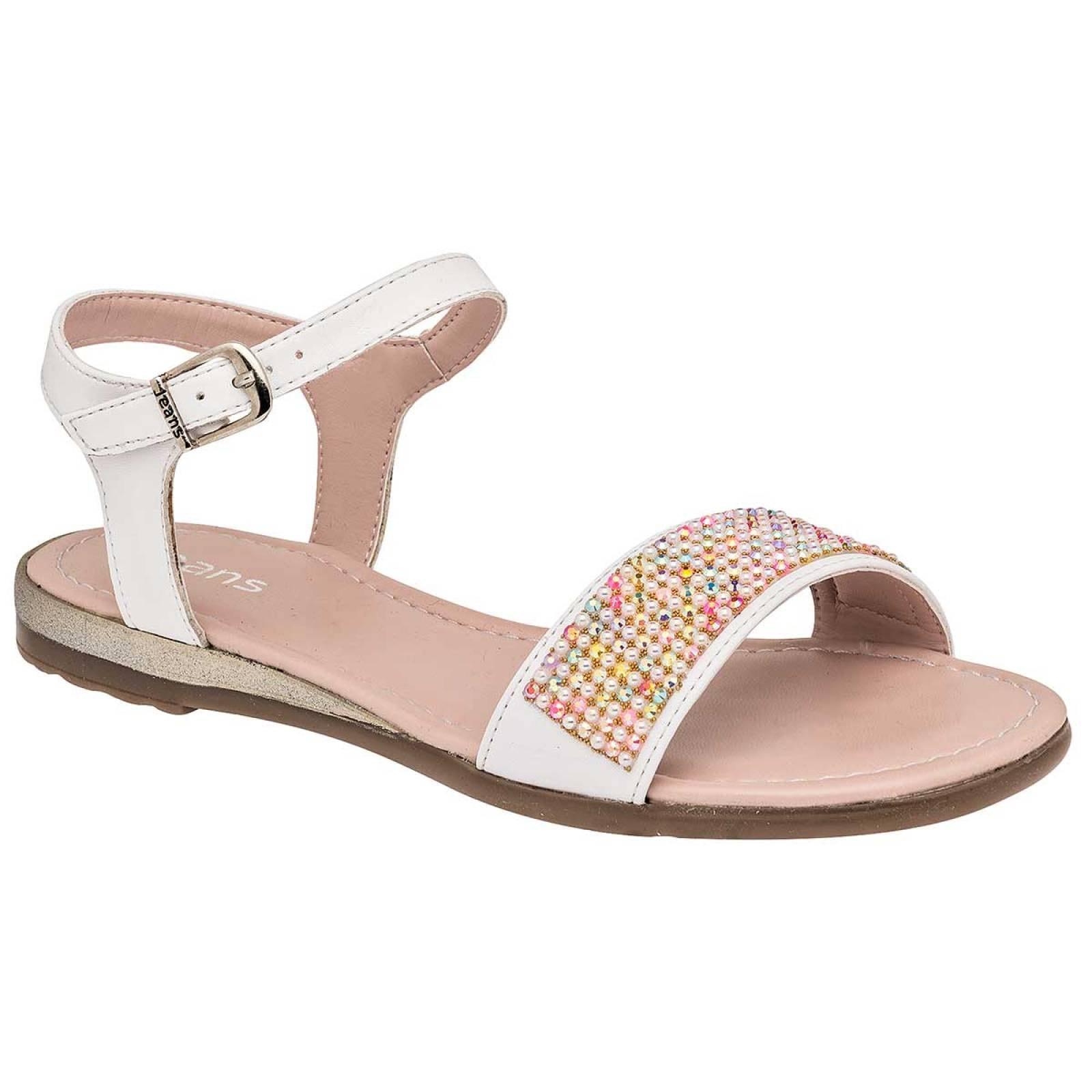 Jeans shoes Sandalia Mujer Blanco multicolor