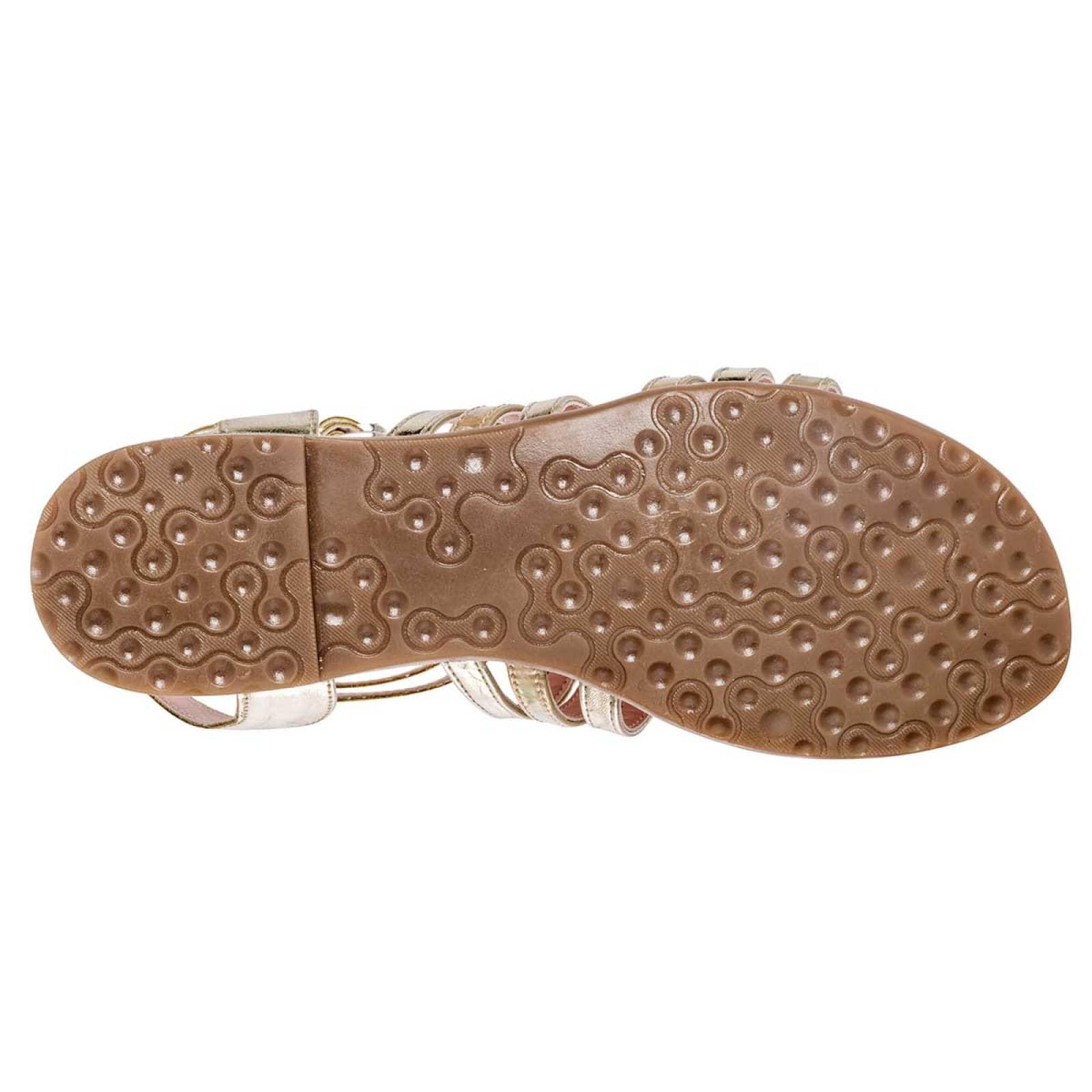 Jeans shoes Sandalia Mujer Oro tornasol