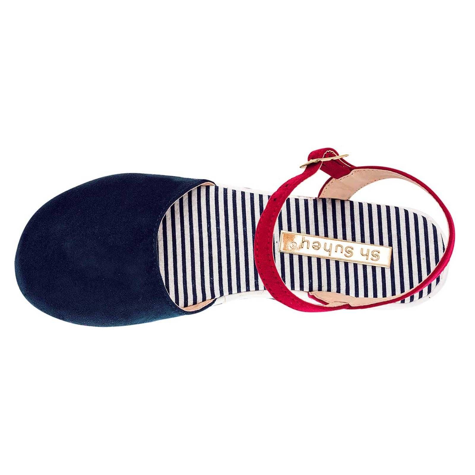 Suhey Zapato Mujer Marino rojo