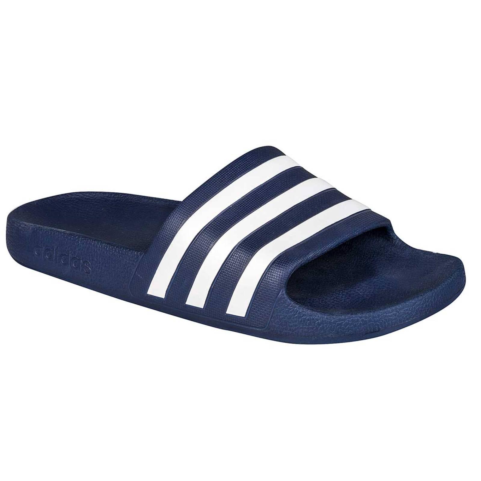 Adidas Sandalia Hombre Marino blanco adilette aqua