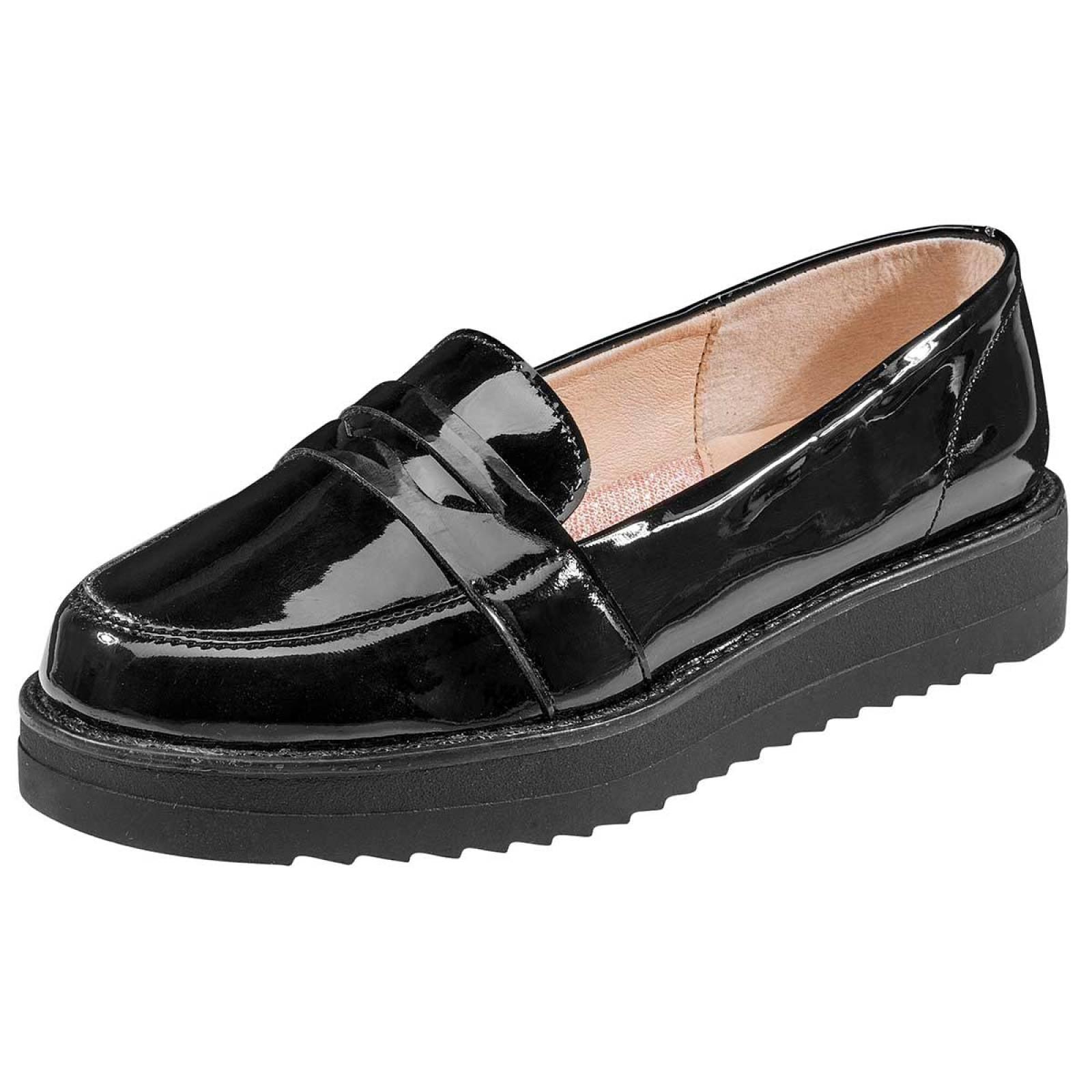 Tropicana Zapato Niña Negro charol