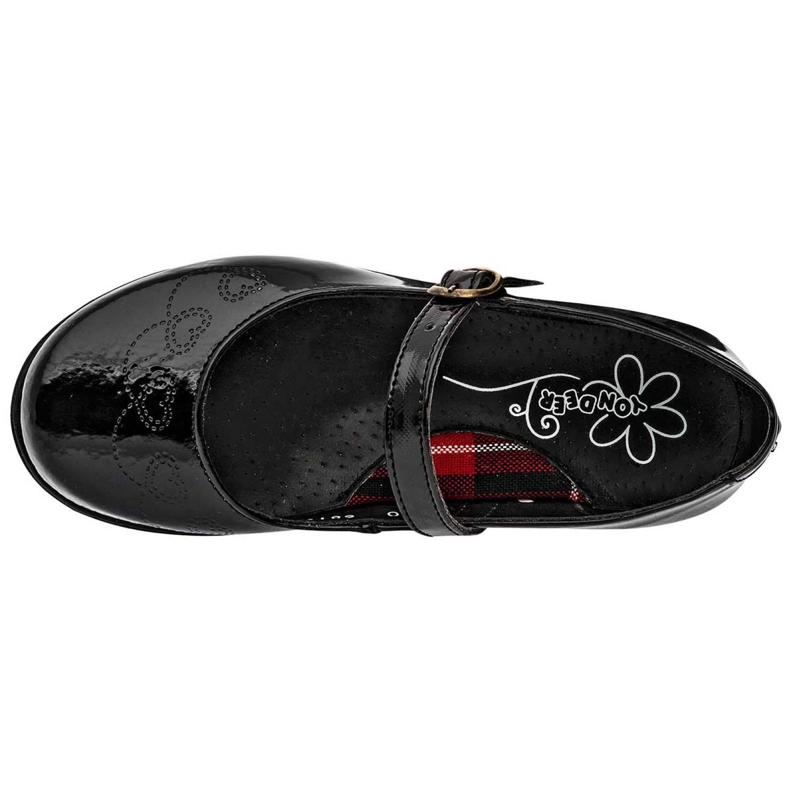 Yondeer Zapato Mujer Negro charol