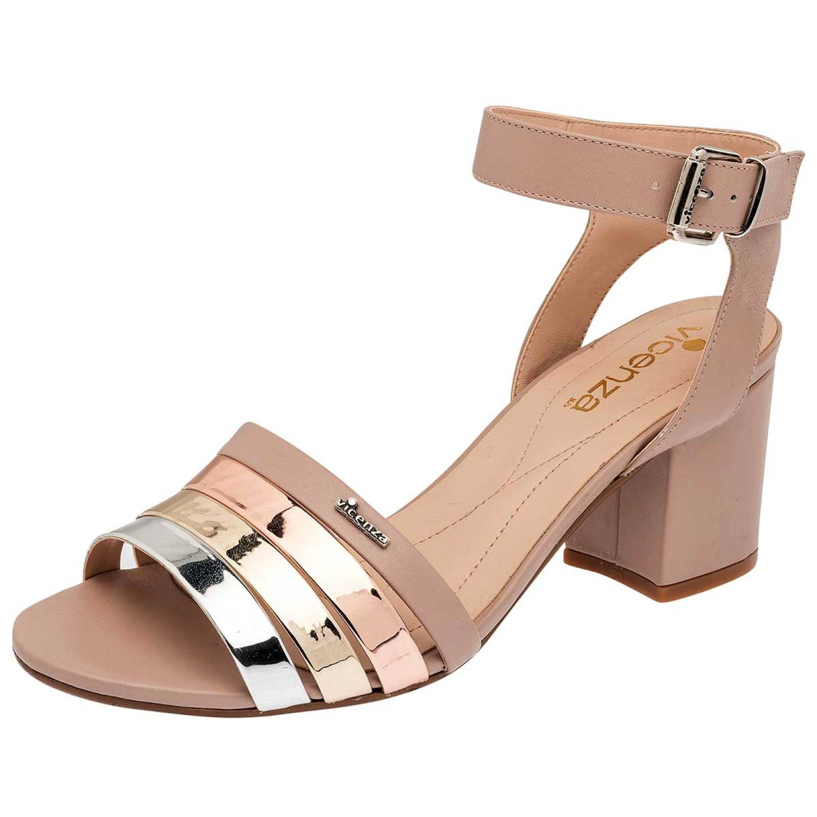 Vicenza Zapato Mujer Beige multicolor