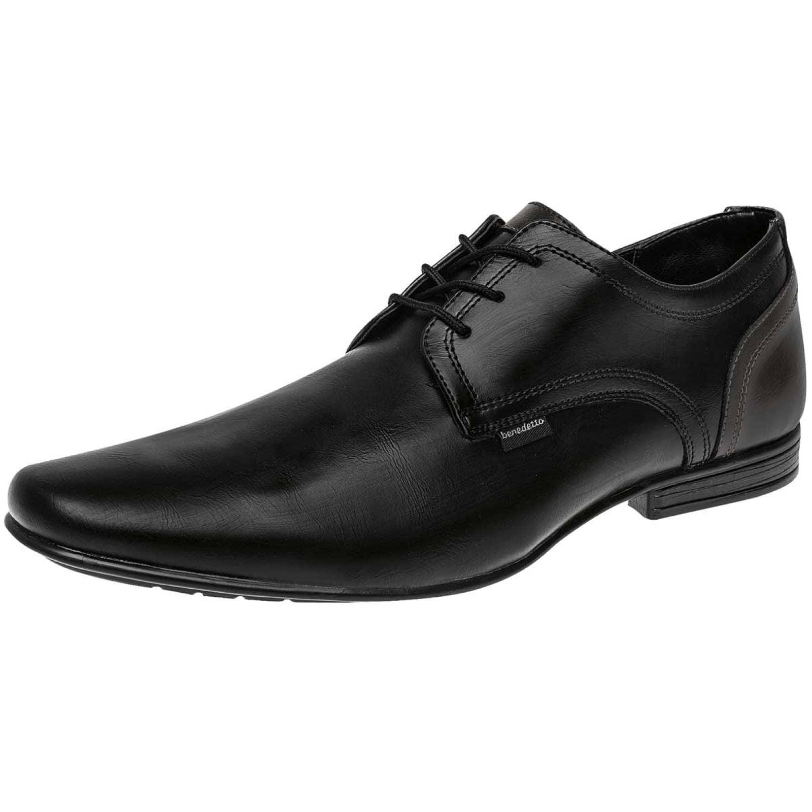 Benedetto shoes Zapato Hombre Negro gris