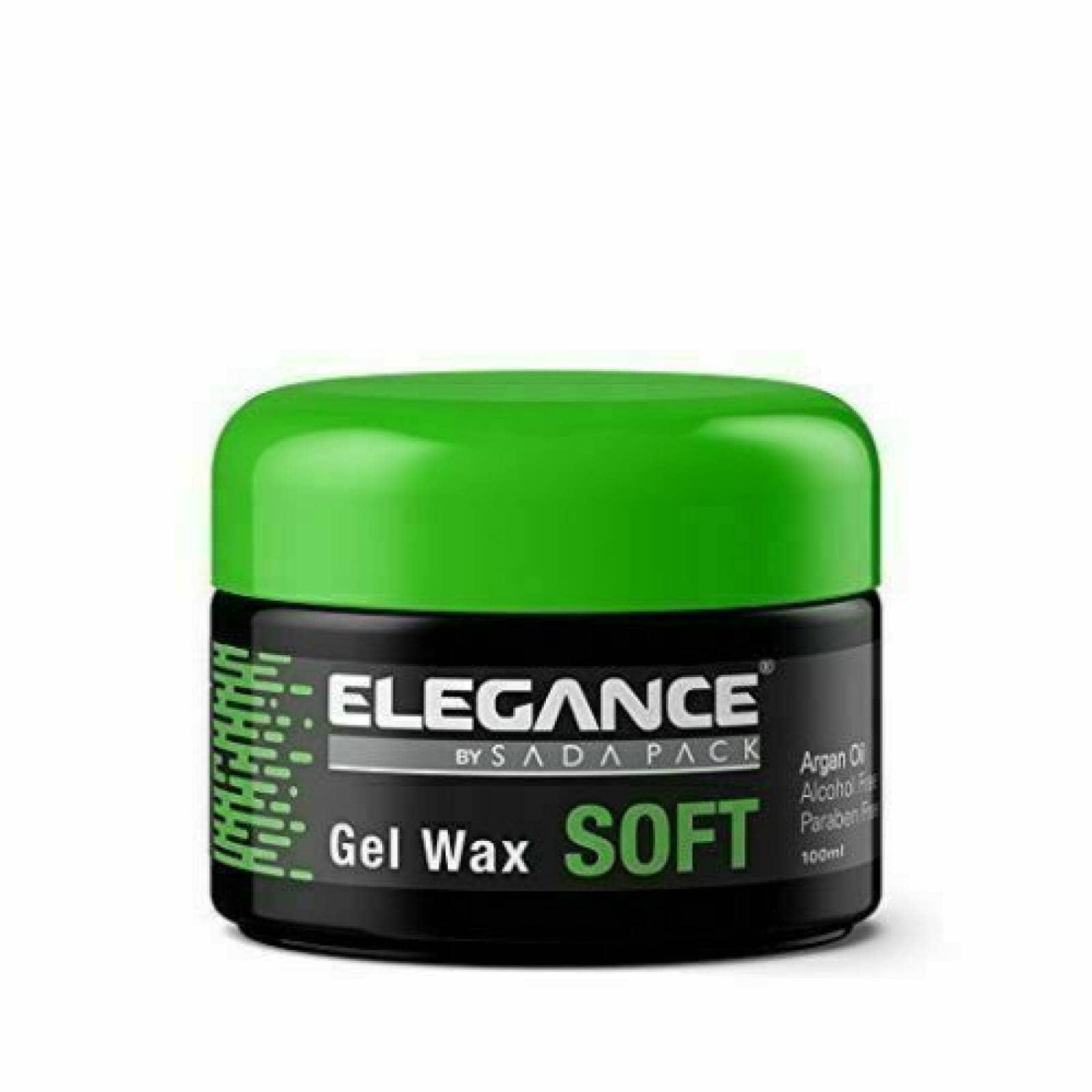 Cera Gel Suave para cabello Elgance  100 ml, Cera con textura Suave para Cabello.