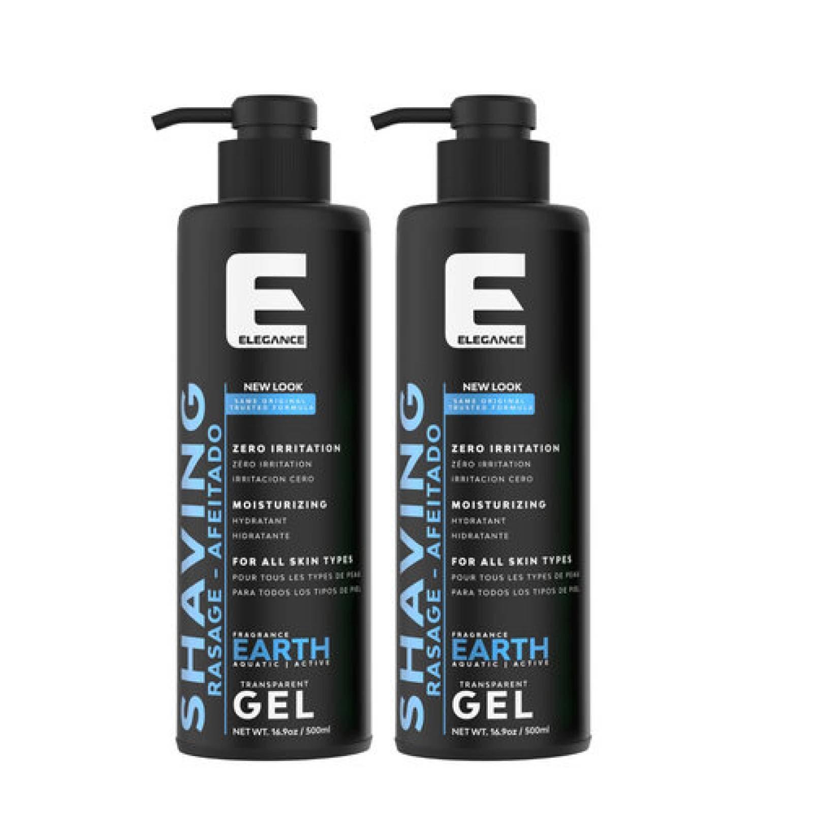 Gel de Afeitar Elegance Earth 500 ml ,  Gel para Afeitado.