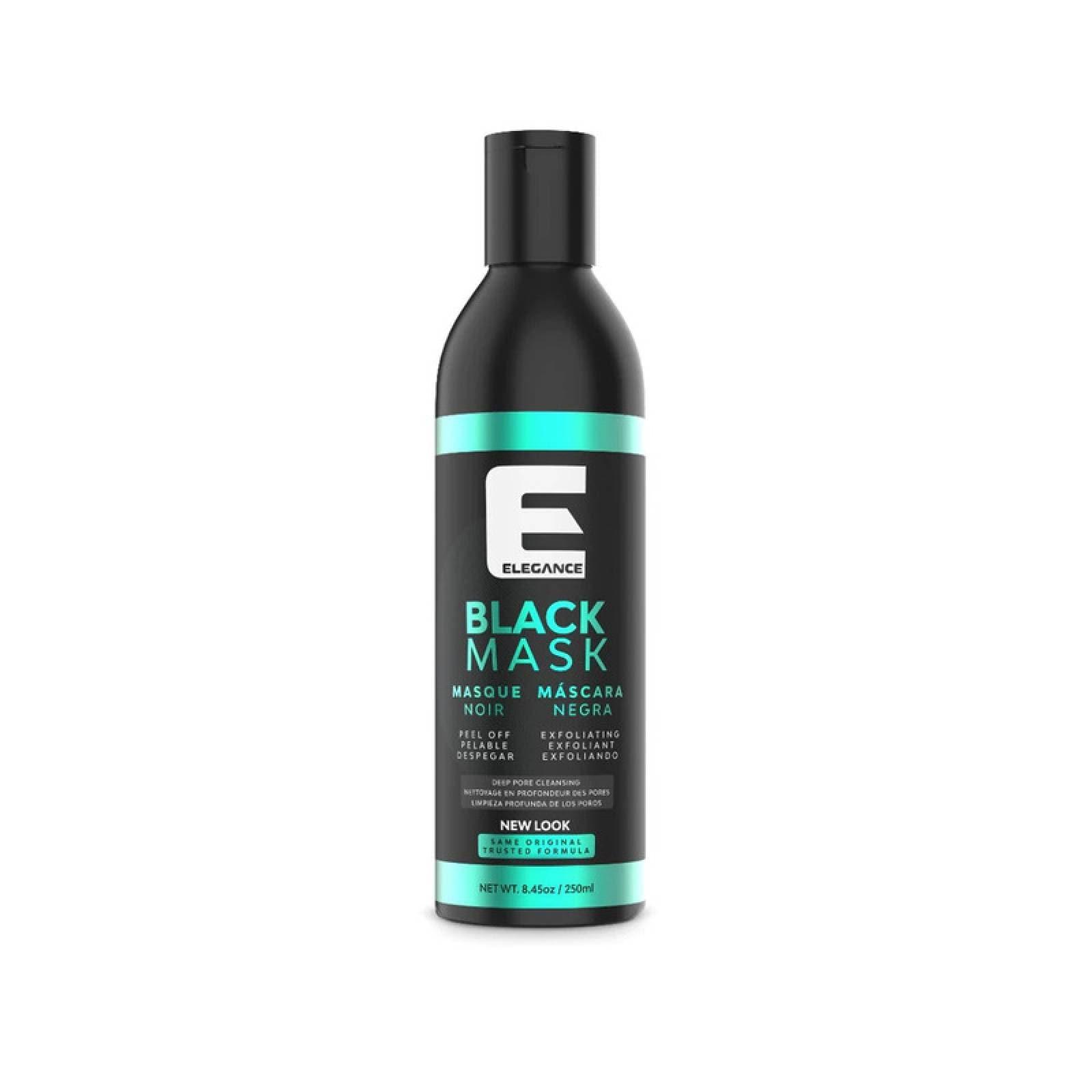 Mascarilla Facial Exfoliante Elegance 250 ml , Mascarilla Negra para Poros abiertos, Limpieza Profunda.