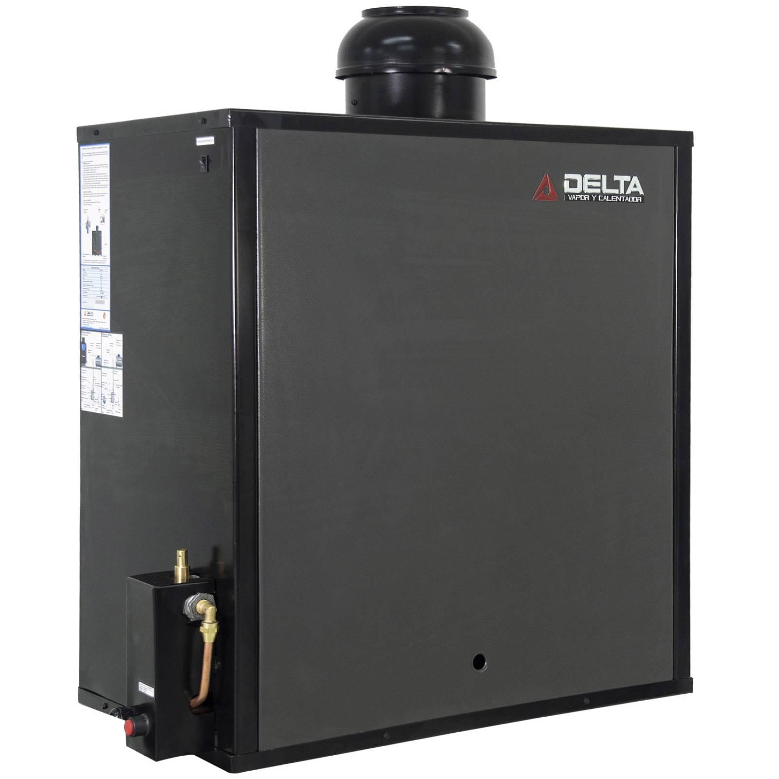 Generador de Vapor Diseñado para Hogar o Spa Instalación en Espacios de 30 m. Cúbicos Gas Natural Delta