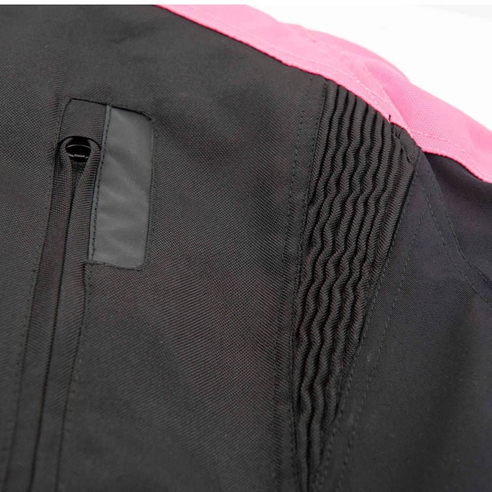 Chamarra Moto de Mujer Joe Rocket Victoria C.E. Impermeable Rosa