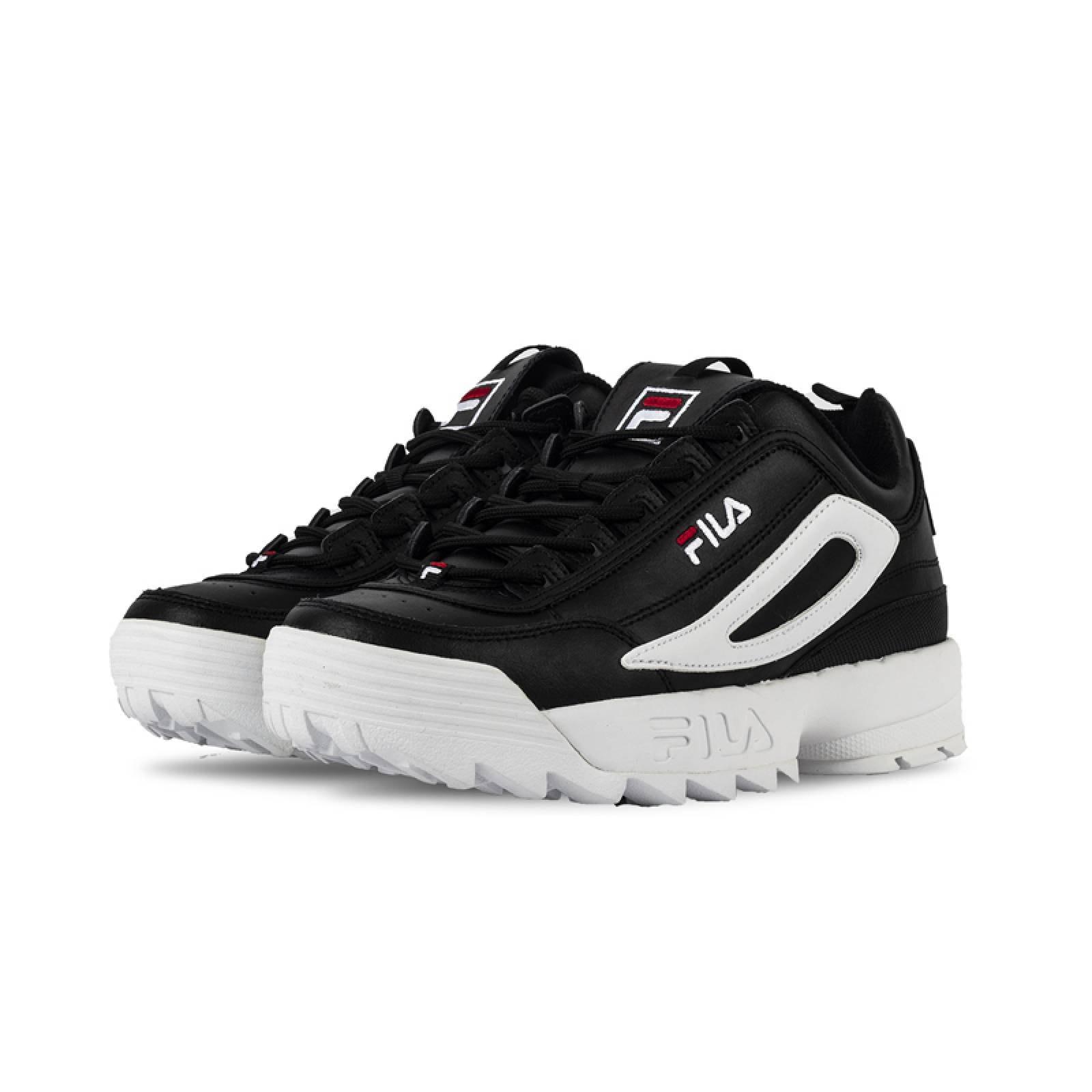 TENIS FILA DISRUPTOR II XL BLACK / WHITE / RED