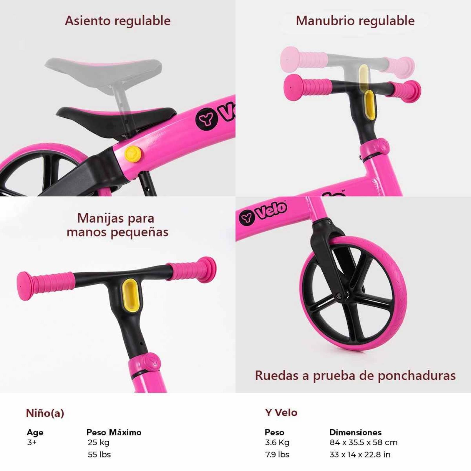 Y Velo Senior Balance Bike  Rosa Neon Color Rosa neon