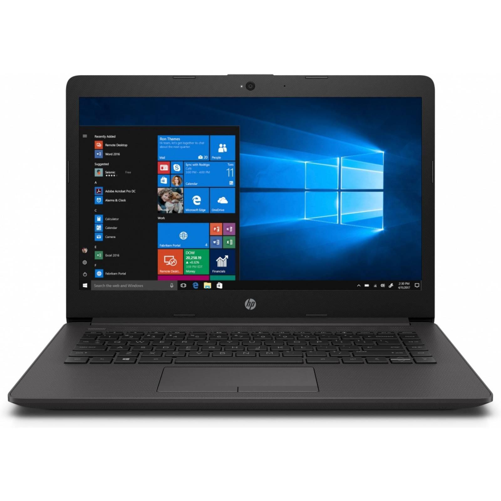 Laptop HP 240 G7: Procesador Intel Celeron N 4000 Memoria de 4GB DDR4, Disco Duro de 500GB, Pantalla de 14 pulgadas LED, Video UHD Graphics 600 Windows 10 Home.