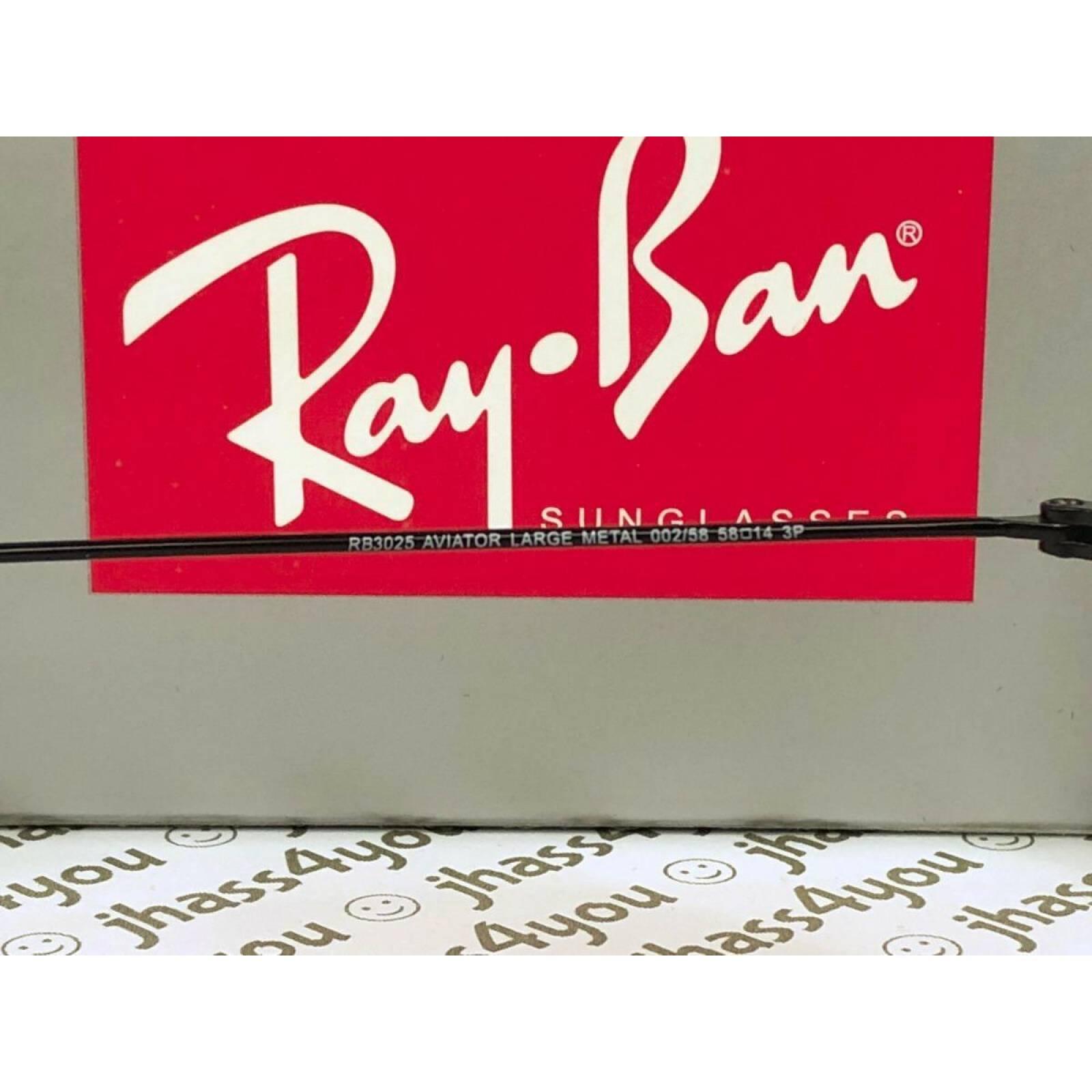 Lentes de Sol Ray Ban Rb3025 002/58 Aviator