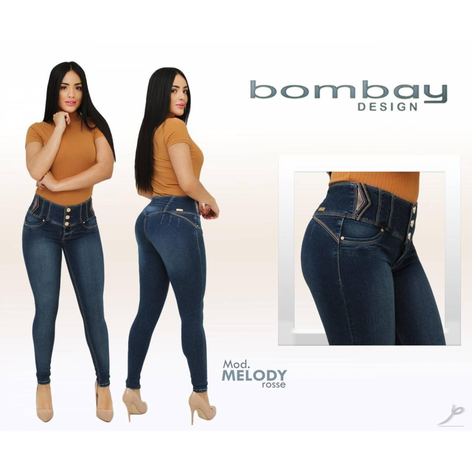 Jeans Dama Bombay Corte Colombiano Melody