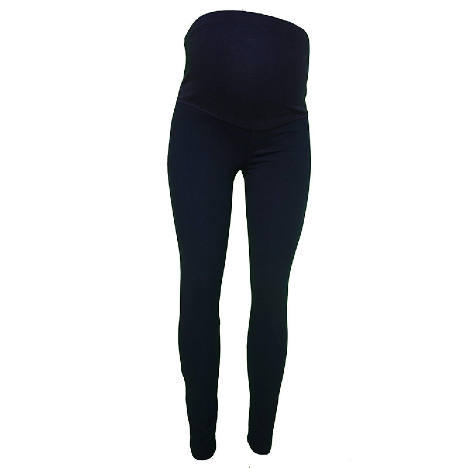 Pantalon Mayon Leggins Azul Marino Ropa De Maternidad Algodon Elastan
